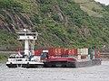 Anroma (ship, 1999), ENI02323909 & Anroma II (ship, 1999), ENI 02324261 & Primero ENI 02335032 & RES V ENI 02329389 on the Rhine near Sankt Goar-Oberwesel pic5.JPG