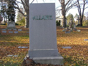 Anthony Allaire - The gravesite of Anthony Allaire in Woodlawn Cemetery