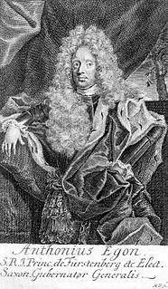 Princely Landgrave of Fürstenberg-Heiligenberg and Governor of the Electorate of Saxony