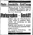 Anzeige zur Eröffnung des Fotogeschäfts von Adolf Buck in Schaan, Liechtenstein (1932).jpg
