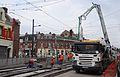 Anzin & Valenciennes - Travaux de raccordement des lignes A & B du tramway de Valenciennes à la Croix d'Anzin le 9 août 2013 (15).JPG