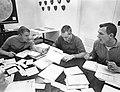 Apollo 9 astronauts compare notes on flight plan.jpg
