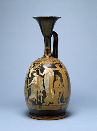 "Lekythos - Image: Apollonia Painter Red Figure ""Kerch"" Style Lekythos Walters 4884 Right"