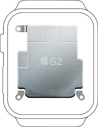 Apple S2 - Image: Apple S2 in watch