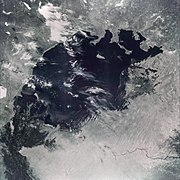 Aral Sea from space, August 1964