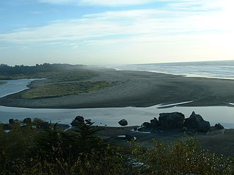Humboldt County, California - Mouth of Humboldt County's Little River on the Pacific Coast.