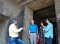 Archaeologist Prof. Suraj Pandit in Kanheri caves, Mumbai, India.jpg