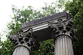 Architectural column capitals and lintel at Gibberd Garden Essex England 02.JPG