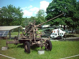 37 mm automatic air defense gun M1939 (61-K) - 61-K in Poznan citadel, Poland