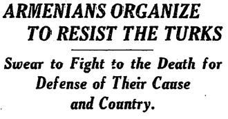 Battle of Sardarabad - Image: Armenians Organize to Resist the Turks