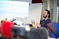 Arnoud Traa explains audio bit depth and bitrate during the workshop field recording..jpg