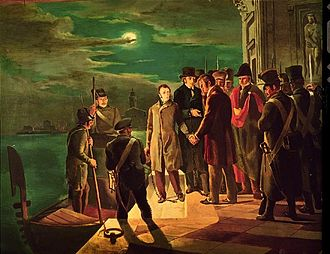 Italian unification - The Arrest of Silvio Pellico and Piero Maroncelli, Saluzzo, civic museum
