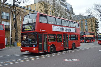 Walthamstow bus station - A route 34 bus operated by Arriva London standing