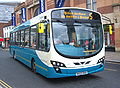 Arriva bus 1426 VDL SB200 Wrightbus Pulsar II NK09 EKB in Darlington 5 May 2009.JPG
