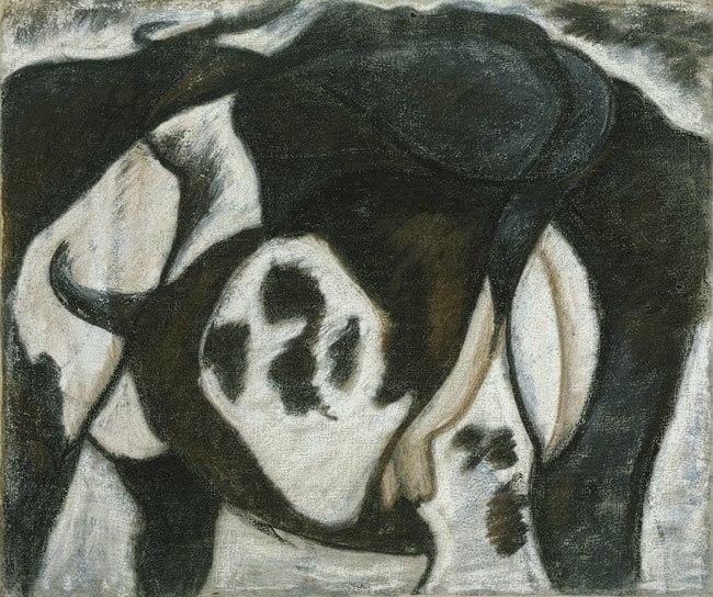Arthur Dove, Cow, 1914, pastel on canvas, 45.1 x 54.6 cm, Metropolitan Museum of Art