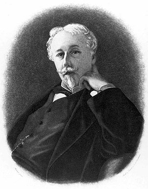 Arthur de Gobineau - Portrait of Gobineau, by the Comtesse de la Tour, 1876