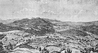 Asheville, North Carolina - Asheville, as it appeared in 1854