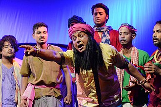 "Actors of Abinaswar Gosthi performs the play""Surjya Mandirot Surjyasta"" directed by Dipok Borah Assamese mythological play ""Surjya Mandirot Surjyasta"".jpg"