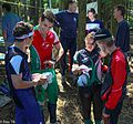 At the Bc Orienteering Championships on Sumas Mountain in the Fraser Valley - everybody discusses their route choices - (28354765220).jpg
