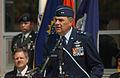 At the Fargo Military Entrance Processing Station, U.S. Air Force Maj. Gen. Michael J. Haugen, North Dakota Adjutant General, speaks to a group of enlistees preparing to take the Oath of Enlistment.jpg