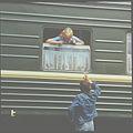 "At the Kishinev station. A train ""Kishinev-Moscow"" (80th years). (5407191472).jpg"