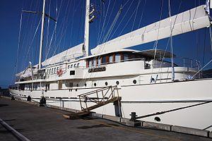 Athena (yacht) - A closer view of Athena