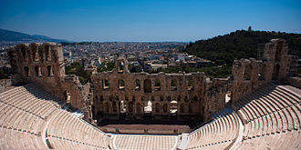 Aspasia Annia Regilla - The Odeon of Herodes Atticus built in memory of his wife at the Acropolis in Athens