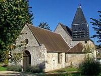 Aumont-en-Halatte (60), église Saint-Gervais-et-Protais, depuis le sud-ouest.jpg