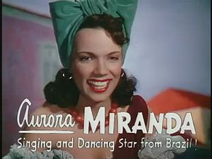 The Three Caballeros - Singer Aurora Miranda in The Three Caballeros.