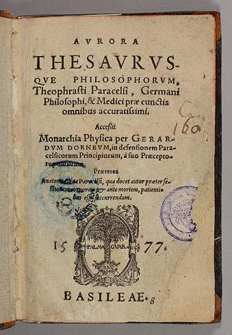 Paracelsus - Aurora thesaurusque philosophorum, 1577