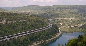 European route E62 - Image: Autoroute A40 01