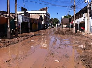 2015 Northern Chile floods and mudflow - Los Carrera Avenue in Copiapó