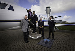 Aviation Beauport Staff and aircraft at Jersey airport.jpg