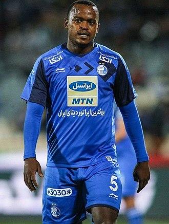 Ayanda Patosi - Patosi playing for Esteghlal in March 2019.
