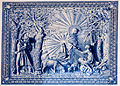 Azulejos depicting the legend of Nossa Senhora do Monte - Funchal, Madeira Island.jpg