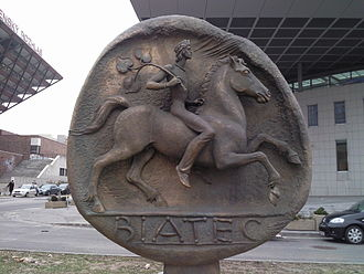 Biatec - Biatec sculpture in Bratislava at National Bank of Slovakia