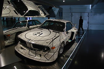 BMW 3.0 CSL Art Car Frank Stella in BMW-Museum in Munich, Bayern.JPG