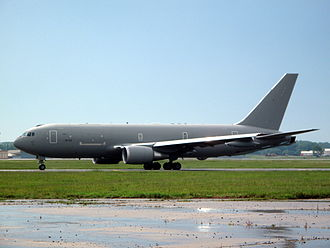 Boeing KC-46 Pegasus - An Italian Air Force KC-767 on the apron at McConnell AFB/Boeing Factory in Wichita, Kansas, in 2010