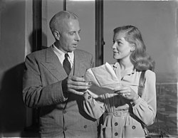 Howard Hawks och Lauren Bacall, ca 1943.