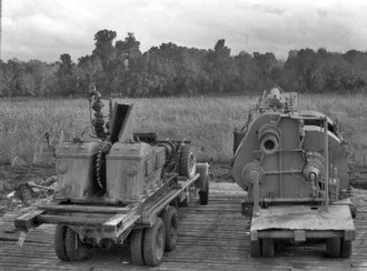 Brazoria County, Texas - Back view of agricultural trucks, 1939