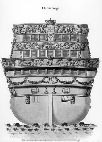 Dannebroge - Image: Backornament of Ship of the line Dannebroge