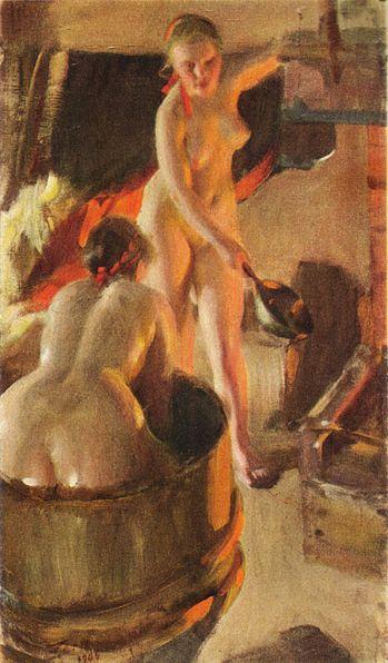 Fichier:Badande kullor av Anders Zorn 1906.jpg