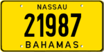 Bahamas license plate 1987 graphic.png