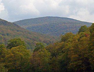 Balsam Lake Mountain Westernmost of the Catskill High Peaks in U.S. state of New York