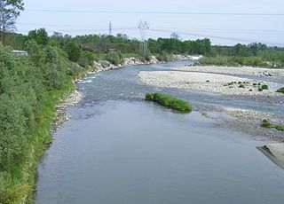 Dora Baltea river in Italy