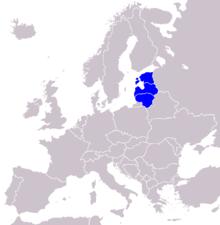 Балтійські країни на карті