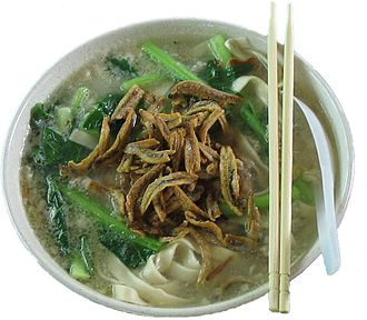 Malaysian Chinese cuisine - Pan Mee as served in Malaysia.