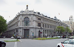 View of the Bank of Spain.