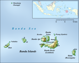 Governorate of the Banda Islands - Map of the Banda Islands