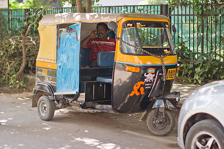 Bangalore cellphone Autorickshaw closeup November 2011 -3 wide.jpg